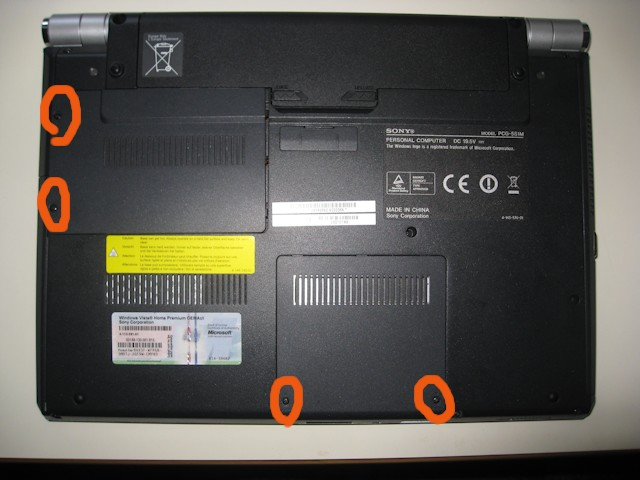 Disassemble Sony Vaio Vgn Sr Upgrade Cpu The Disassembler