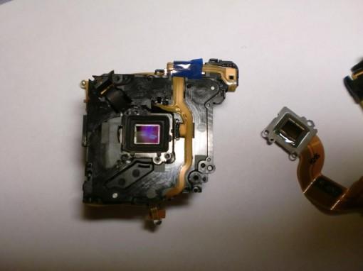 Smontaggio Sensore CCD Canon ixus 130