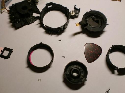 Canon ixus 130 parti ottica