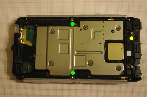 Nokia N8 rimozione cover interna 1