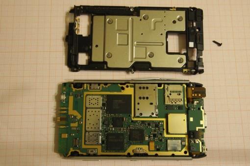 Nokia N8 rimozione cover interna 2
