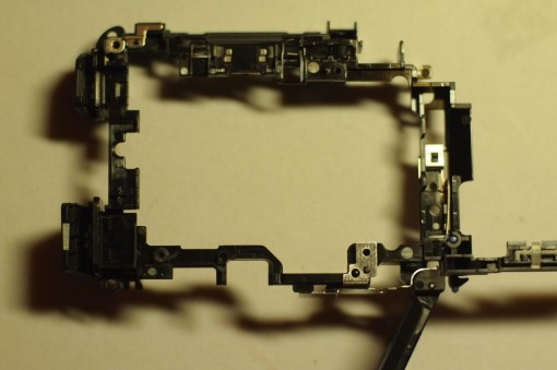 Smontare Sony NEX - cornice interna