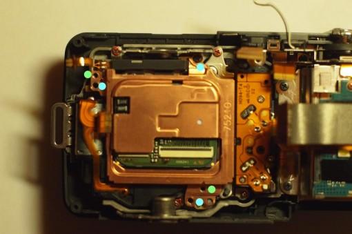 Sony NEX - Dietro il sensore CMOS