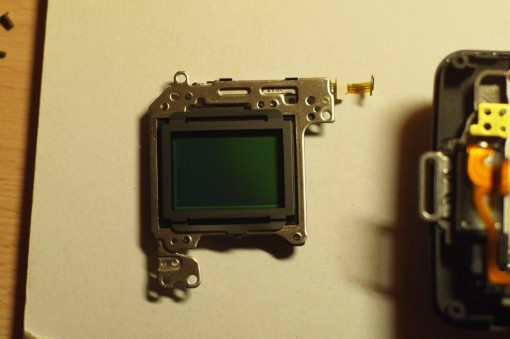 Smontare Sony NEX-3 Sensore CMOS