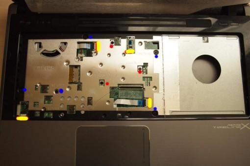 Acer 4820TG - Rimozione Cover superiore  - 2