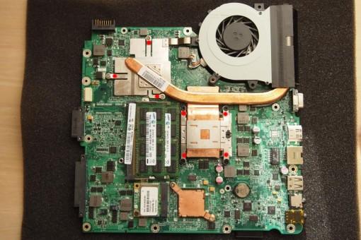 Acer 4820TG - Rimozione CPU - 1