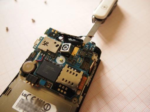 LG Optimus 7 - Rimuovere Scheda Madre - 4