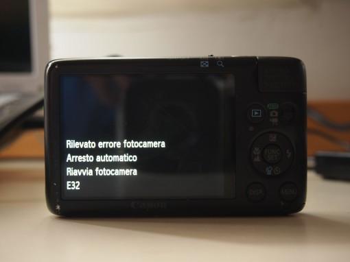 Canon IXUS Powershot Error E32