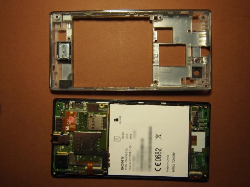 Sony Xperia J - 4 - Scheda madre e backcover