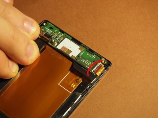 Sony Xperia J - 12 - Sub Board - connettore flat