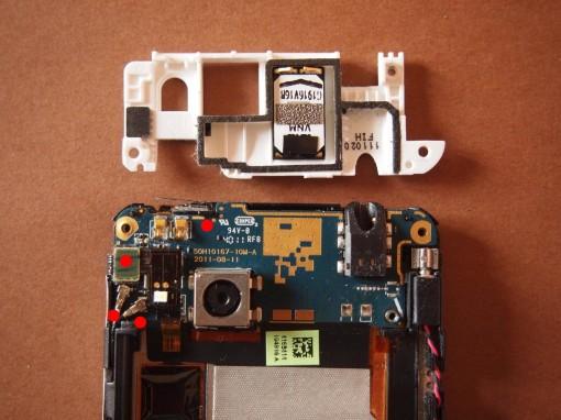 HTC Radar - 4 - Scheda supeiore