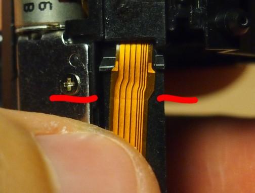 Olympus M. Zuiko 14-42 II R Focus flat cable - 2