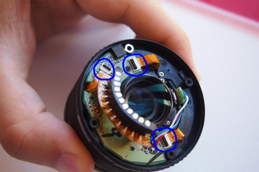 Olympus Zuiko - scheda elettronica